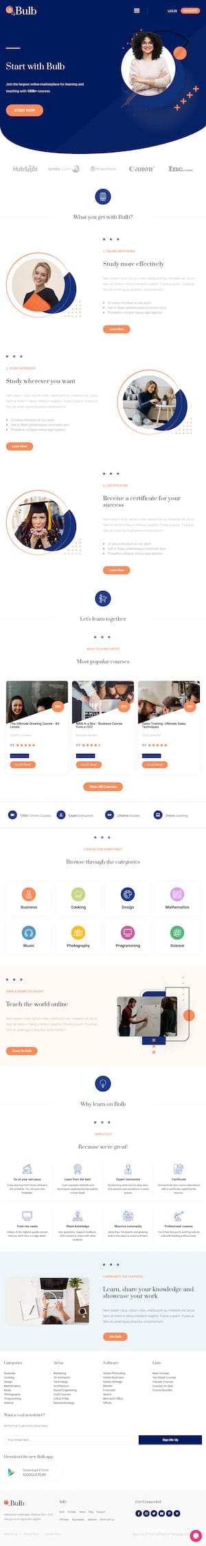 Education & Training - Elementor Template Website - Cloud High Sydney WordPress Websites