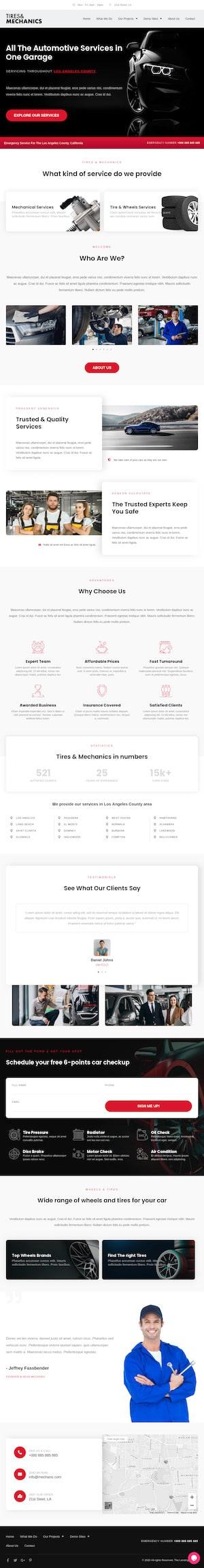 Mechanic Workshop - Elementor Template Website - Cloud High Sydney WordPress Websites
