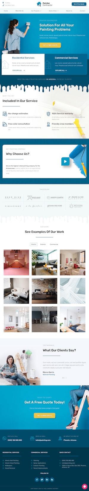 Painter - Elementor Template Website - Cloud High Sydney WordPress Websites