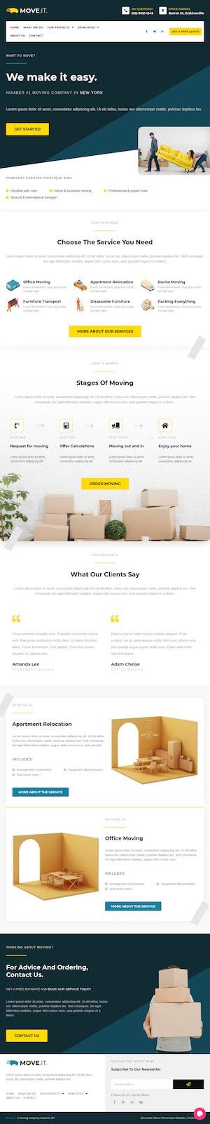 Removalist - Elementor Template Website - Cloud High Sydney WordPress Websites